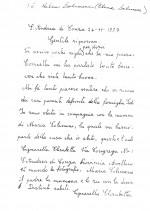 Lettera di zia Elisabetta