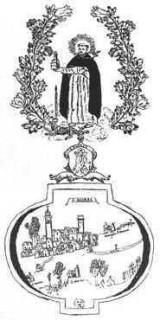 S. Andrea in un disegno (1691 ?) di G. P. Fusco (parroco del paese)