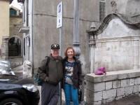 Tonia e Hans vicino alla Fontana