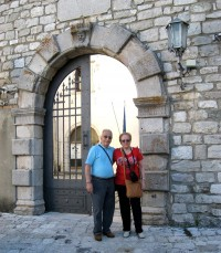 Donato e Maria in visita all'Episcopio