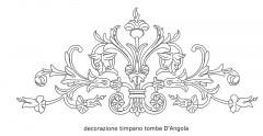 Decorazione su timpano tomba D'Angola