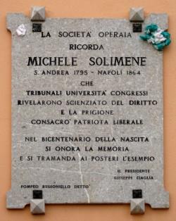 Lapide a Michele Solimene