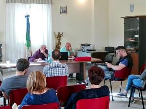 Un altro momento dell'incontro con la C. R. I. a Sant'Andrea di Conza