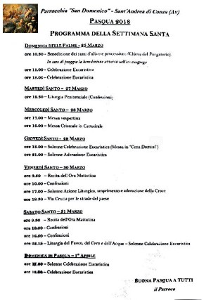 La settimana Santa a Sant'Andrea di Conza