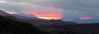 Freddo tramonto alla vigilia di S. Andrea