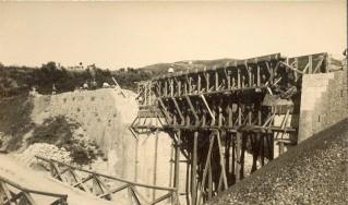 Il ponte sull'Arsa in costruzione