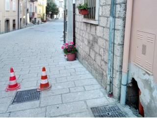 """Tracce della """"canala"""" della """"Forma"""" in Via Battisti"""