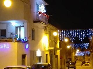 Luci natalizie in Via D'Annunzio