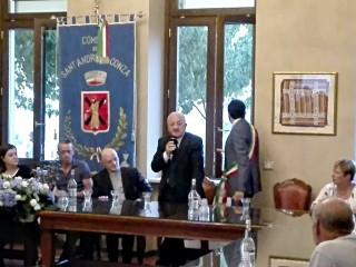 Il Presidente De Luca a Sant'Andrea di Conza