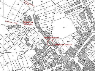 Stralcio della mappa di Sant'Andrea di Conza