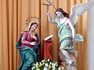 La  statua dell'Annunziata nell'omonima Chiesa di Pescopagano