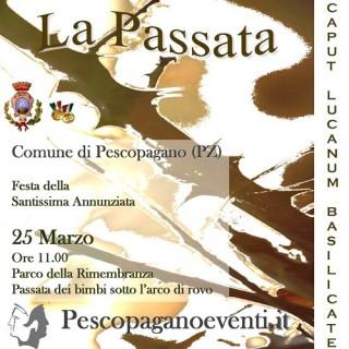 """Brochure sulla """"Passata"""" di Pescopagano"""