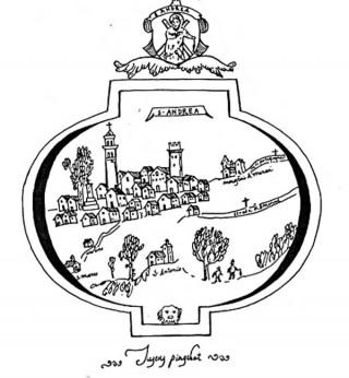 Stralcio del disegno di Sant'Andrea di G. P. Fusco