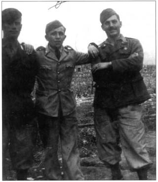 Vallario Vito, Di Lorenzo Carlo, Iannella Alessandro (da sinistra a destra) al fronte greco
