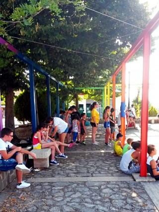 Giochi senza frontiere in Piazza Aldo Moro a Sant'Andrea di Conza