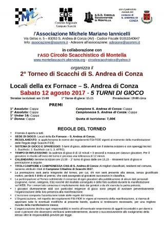 Estate ricreativa e culturale a Sant'Andrea di Conza: Torneo di scacchi