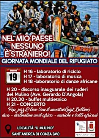 Giornata mondiale del rifugiato a Sant'Andrea di Conza