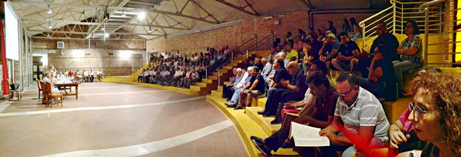 """Il locale dell'ex Fornace alla presentazione de """"La collettiva generale di Sant'Andrea di Conza"""""""