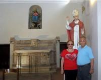 Donato e Maria in visita alla Chiesa dell'Incoronata