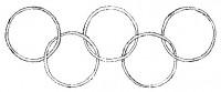 Il simbolo delle olimpiadi (disegno di Michelangelo Bozzone)