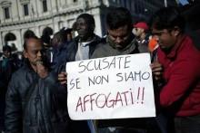 Manifestazione di migranti