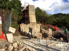 Mulino 'alla fonte': la torre con il pozzo di caduta
