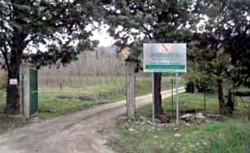 L'ingresso al Vivaio Forestale