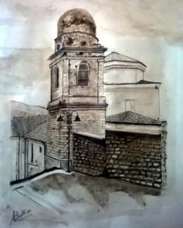 Sant'Andrea di Conza: il campanile e la Chiesa di San Michele