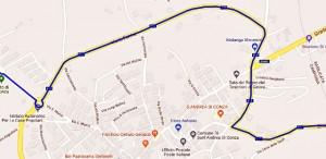 Il percorso intorno a Sant'Andrea di Conza