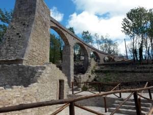 Veduta del mulino 'alla Fonte' dopo il restauro