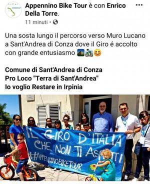 """La Pro Loco """"Terra di Sant'Andrea"""" accoglie i rappresentanti dell'Appennino Bike Tour"""