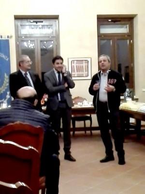 Davide Maraffino e il sindaco di Ternate (VA) a Sant'Andrea di Conza