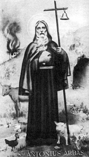 Tipica figurina di Sant'Antonio Abate