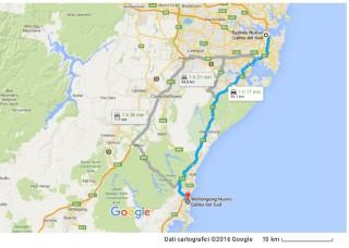 La zona tra Sydney e Wollongong