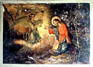 Un dipinto (a olio, di Angelo Metallo?) nell'Episcopio di Sant'Andrea di Conza
