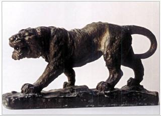 Tigre, scultura in bronzo