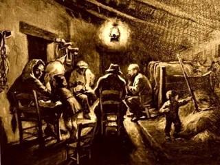 Nella stalla per riscaldarsi (Immagine www.aneddoticamagazine.com)