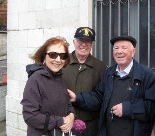 Tonia e Hans insieme al cugino Rocco