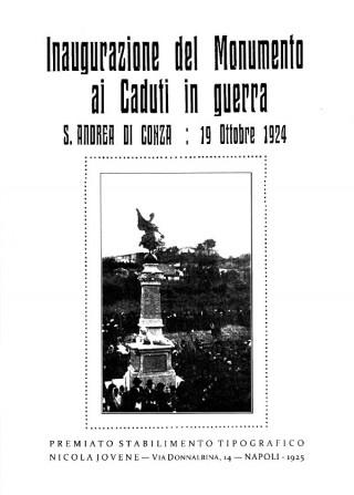 Inaugurazione del Monumento ai Caduti in guerra di Sant'Andrea di Conza