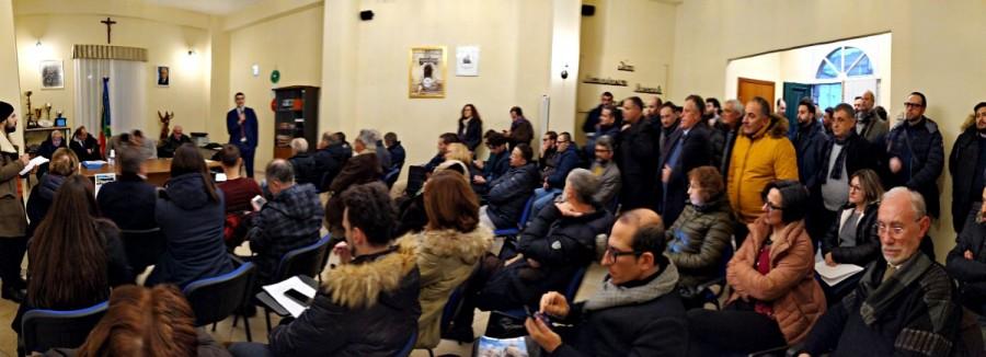 La sala della Società Operaia di Sant'Andrea di Conza